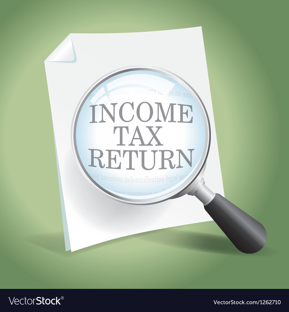Reviewing an income tax return vector | Price: 1 Credit (USD $1)