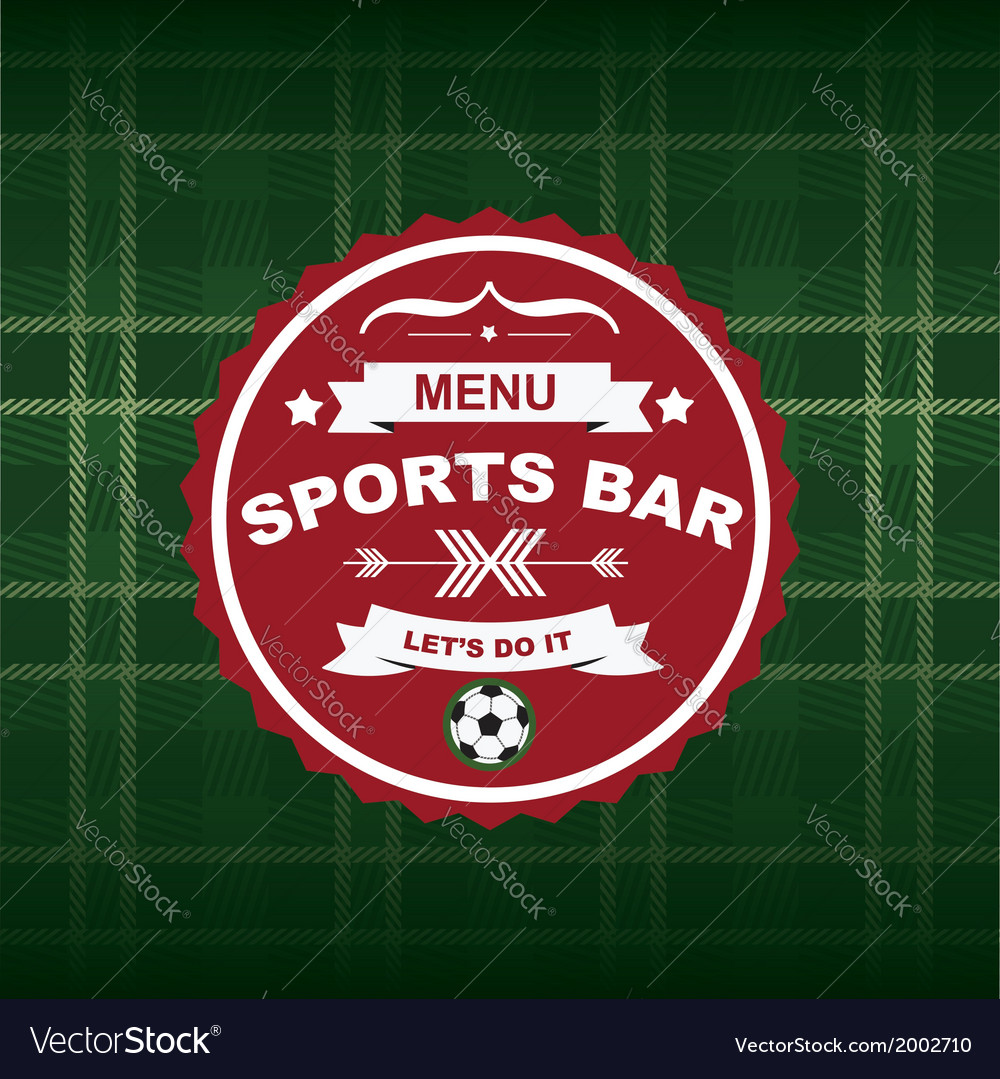 Sports bar menu template design vector | Price: 1 Credit (USD $1)