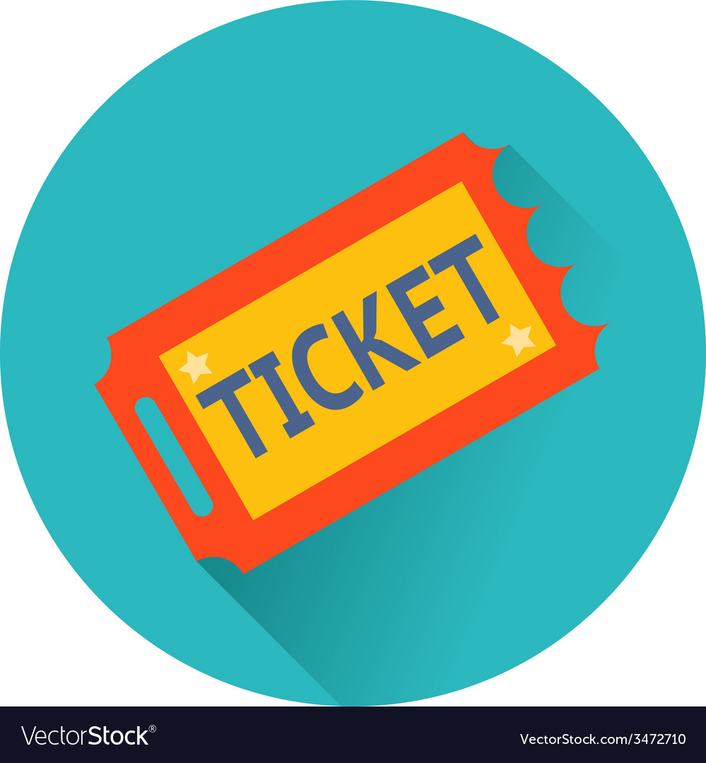Ticket icon vector | Price: 1 Credit (USD $1)
