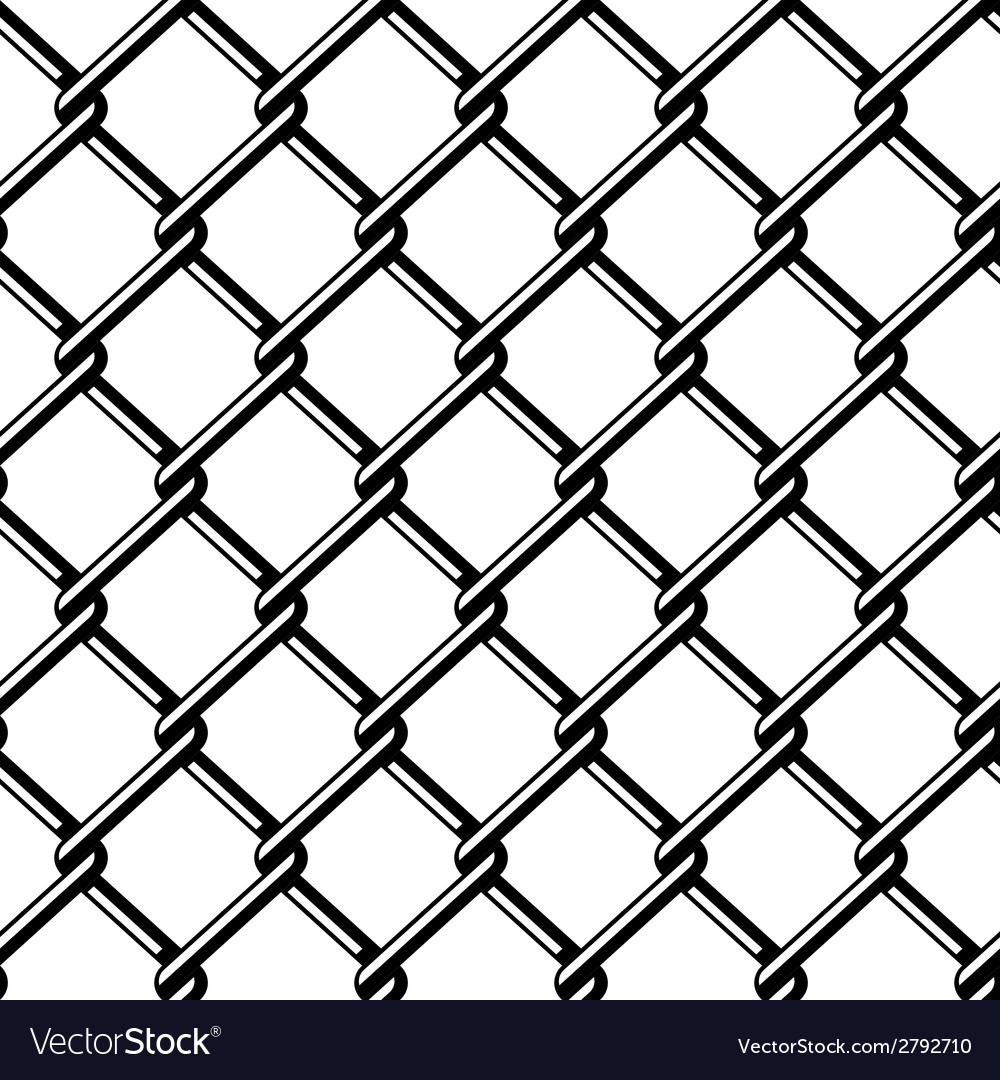 Wire fence seamless black silhouette vector | Price: 1 Credit (USD $1)