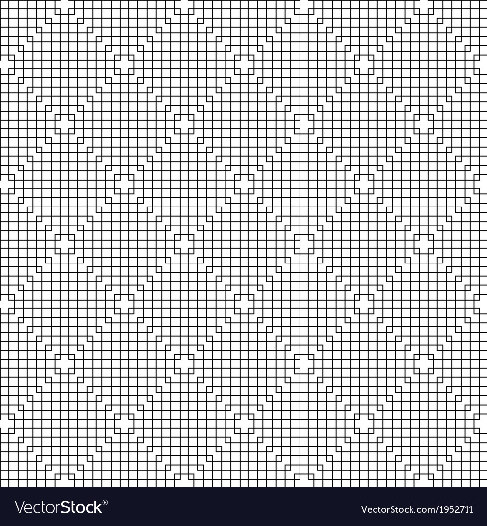 Abstract black line squares pattern vector | Price: 1 Credit (USD $1)