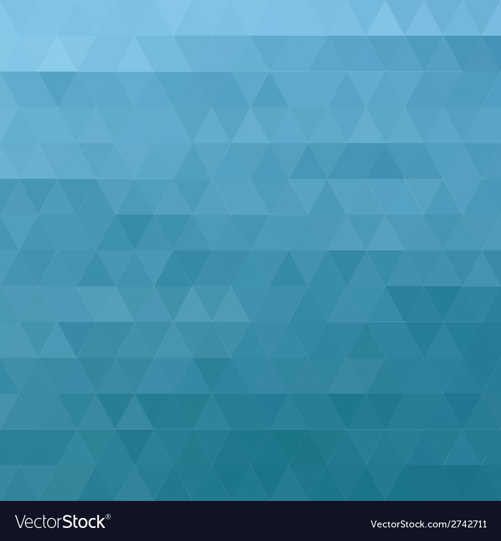 Abstract ocean blue geometric triangle background vector | Price: 1 Credit (USD $1)