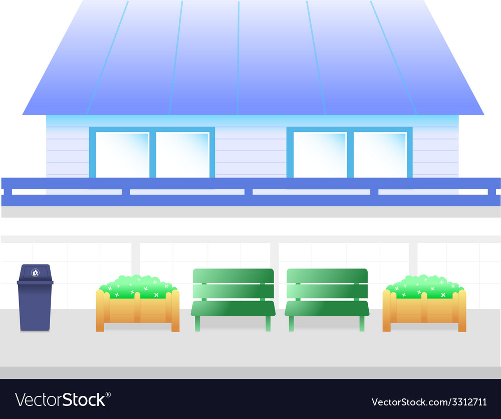 Blue house cartoon vector | Price: 1 Credit (USD $1)