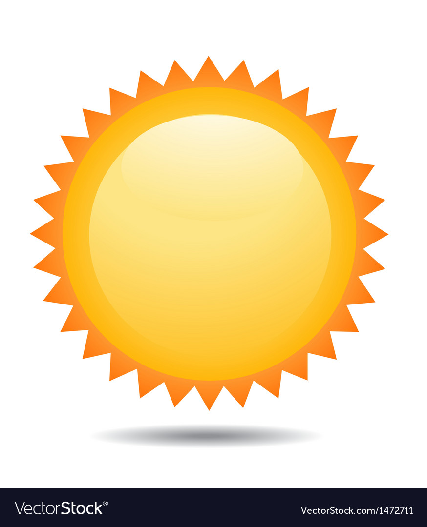 Bright sun vector | Price: 1 Credit (USD $1)