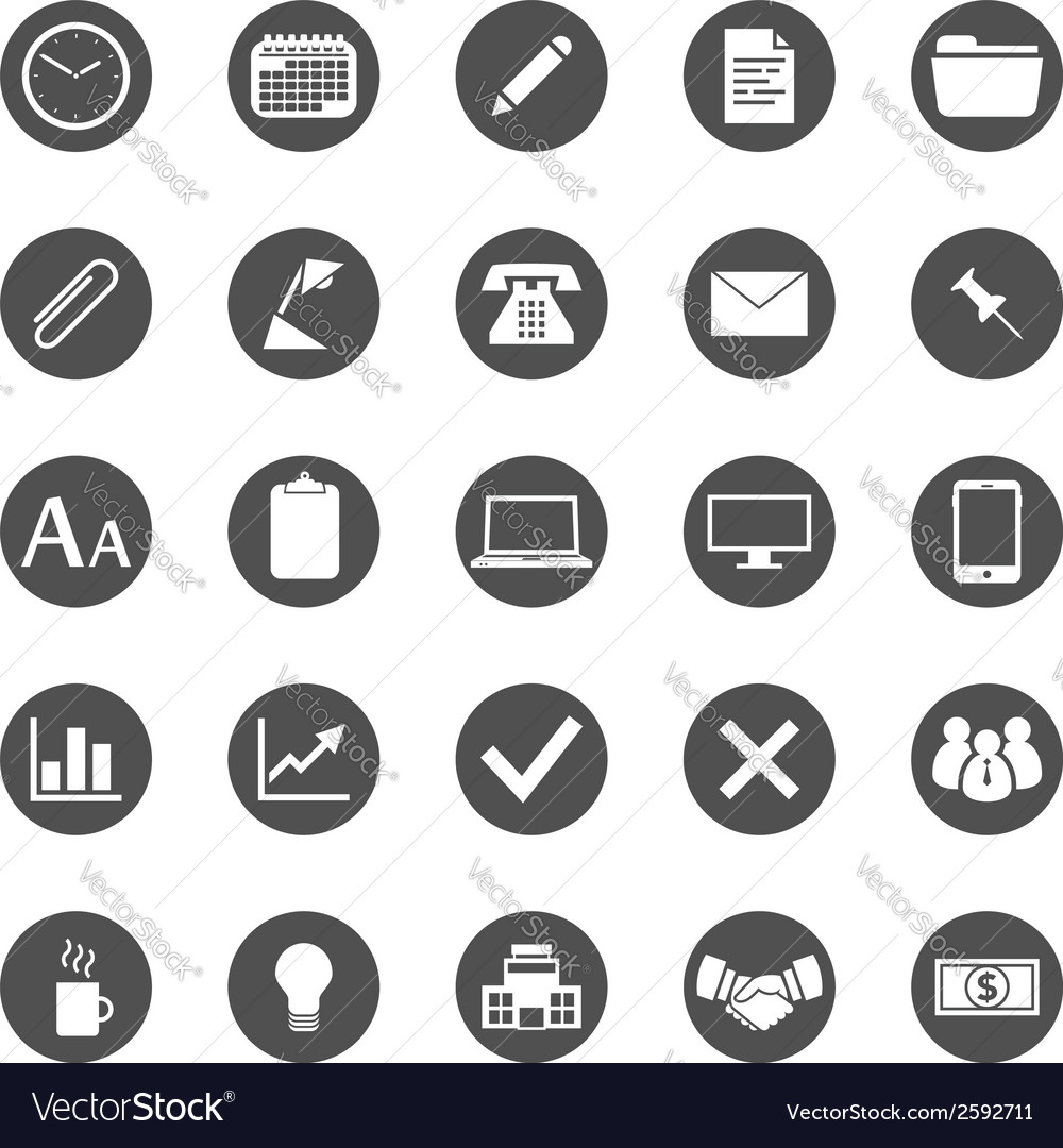 Business and finance icon set vector | Price: 1 Credit (USD $1)