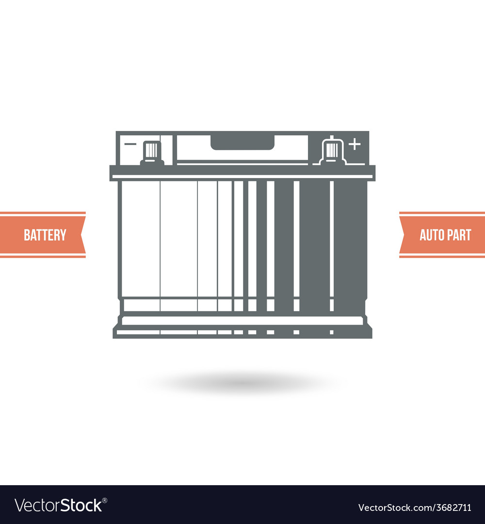Car battery icon vector | Price: 1 Credit (USD $1)