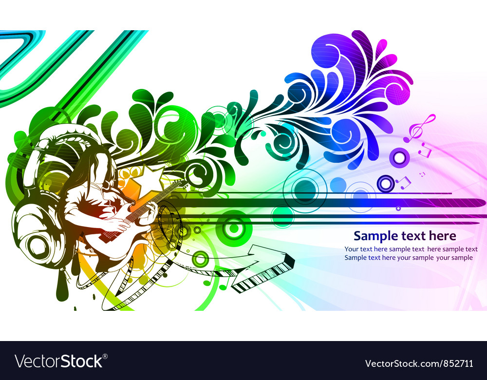 Colorful concert poster vector | Price: 1 Credit (USD $1)