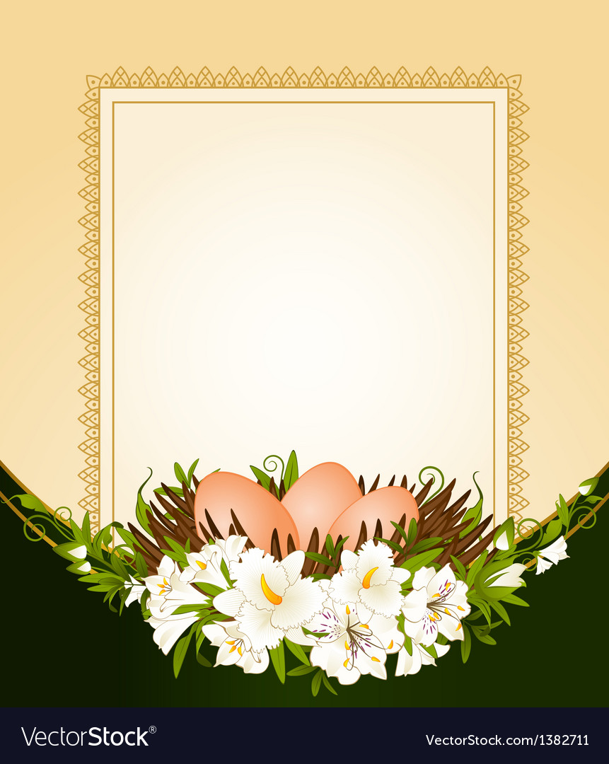Easter frame border vector | Price: 1 Credit (USD $1)