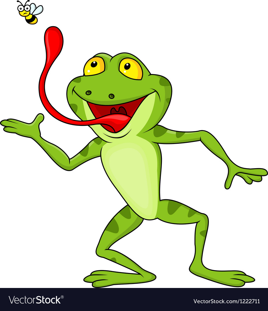 Frog catching fly vector | Price: 3 Credit (USD $3)