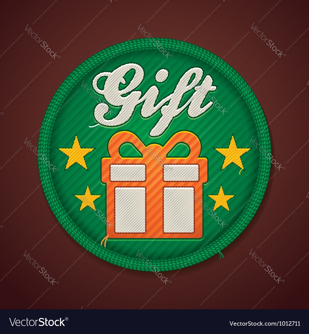Gift fabric badge vector | Price: 3 Credit (USD $3)