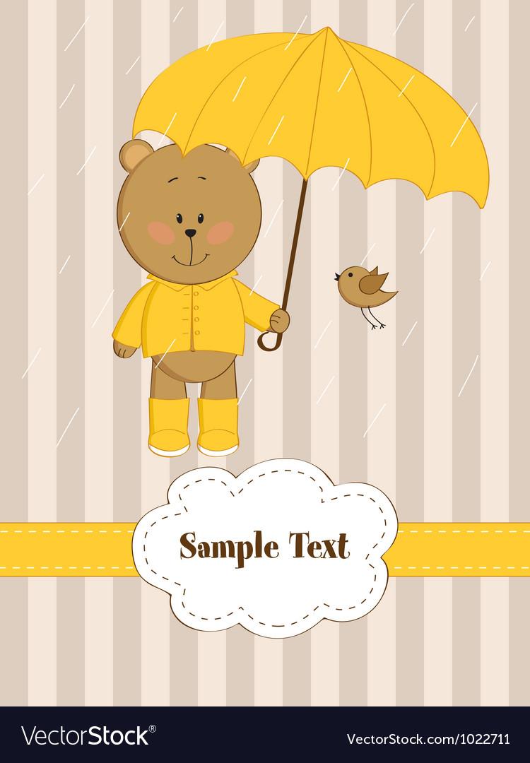 Rain card vector | Price: 1 Credit (USD $1)