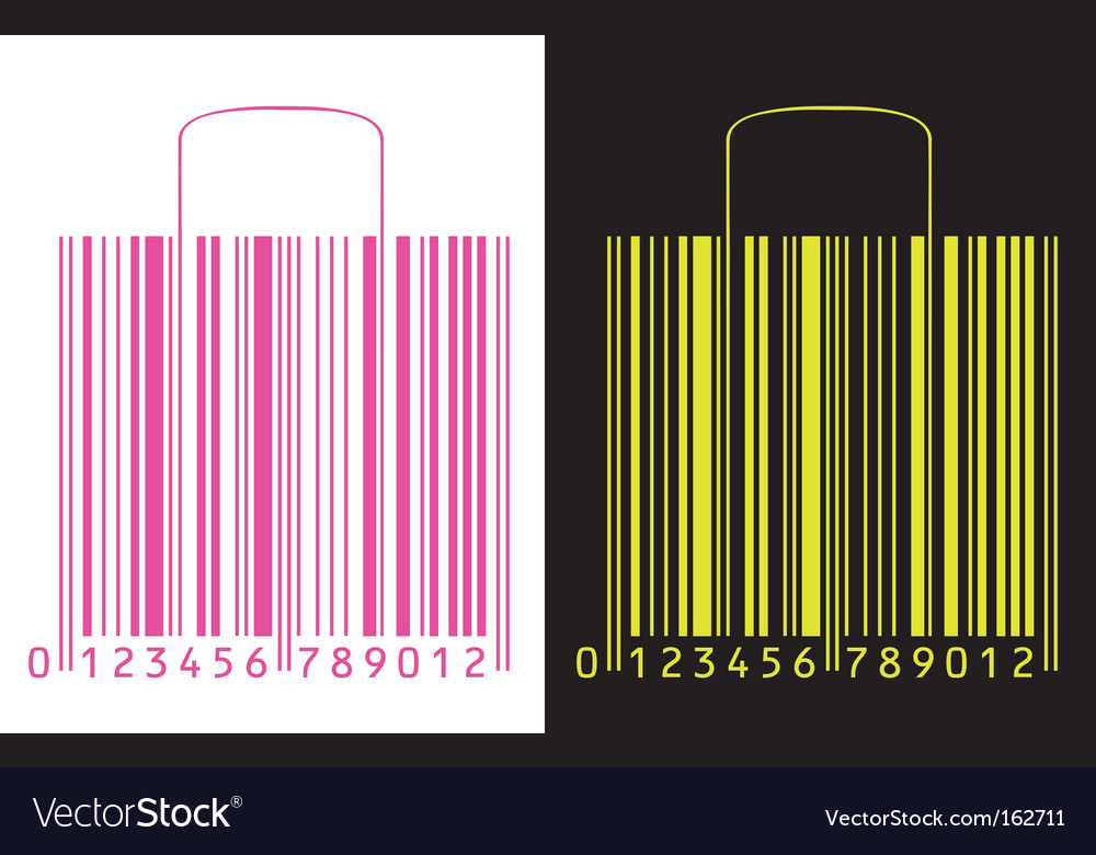 Shopping bag barcode vector | Price: 1 Credit (USD $1)