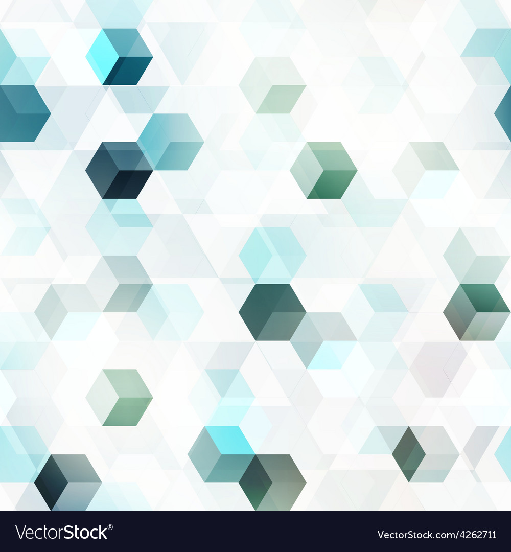 Technology cube seamless pattern vector