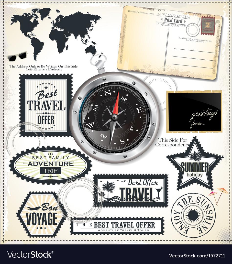 Travel design elements vector | Price: 3 Credit (USD $3)