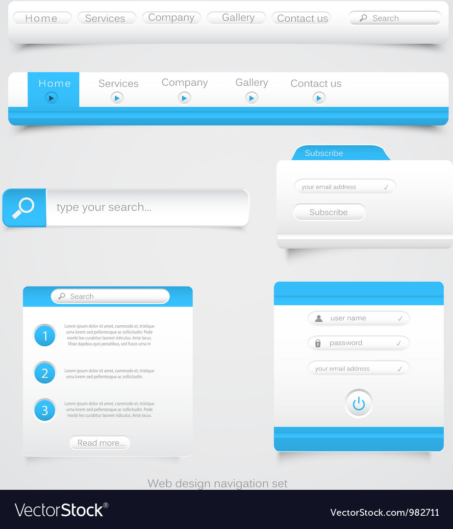 Web site navigation menu pack 2 vector | Price: 1 Credit (USD $1)