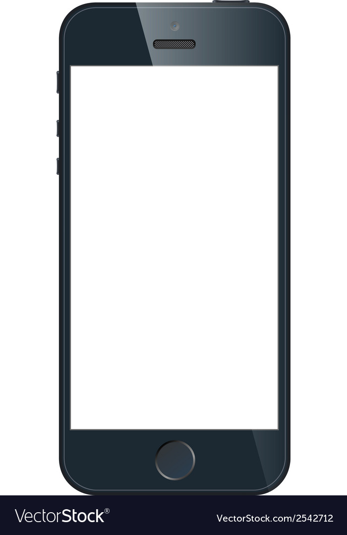 Black business mobile phone in iphone style vector   Price: 1 Credit (USD $1)