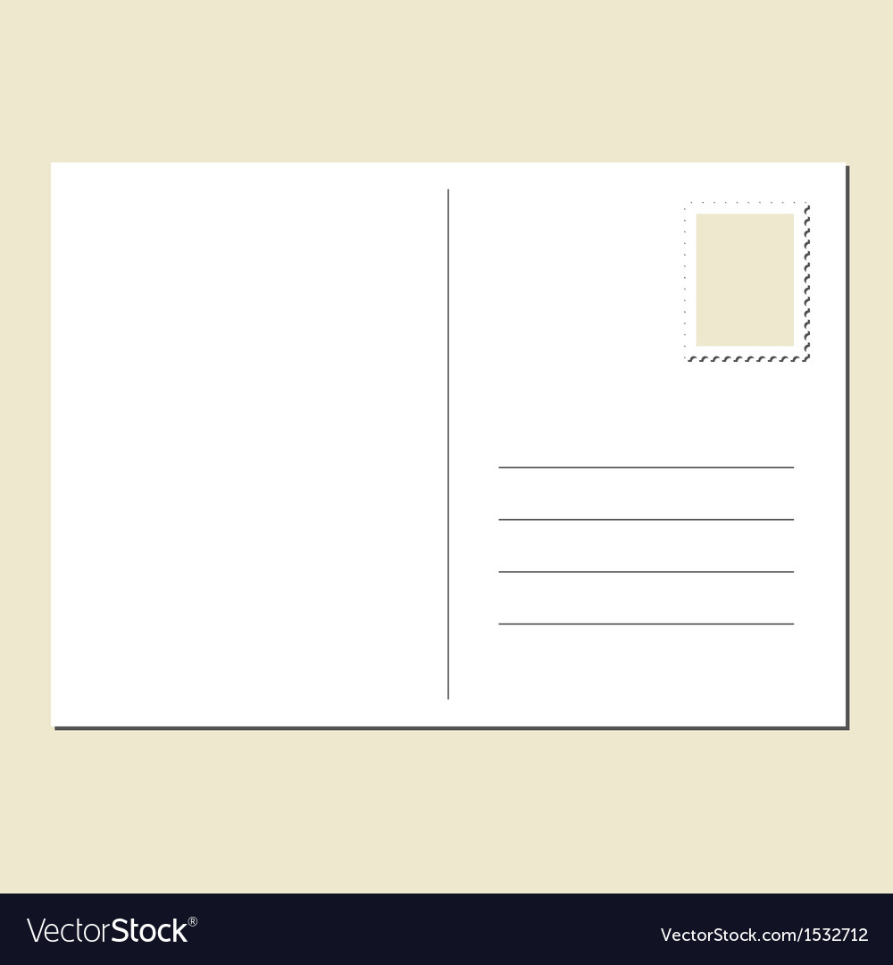 Blank postcard vector | Price: 1 Credit (USD $1)