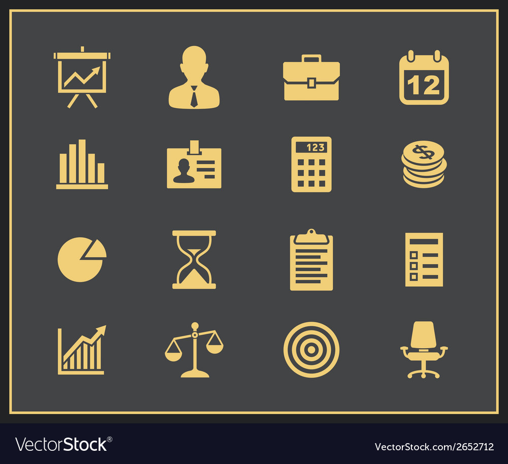 Business and financial icon set vector | Price: 1 Credit (USD $1)
