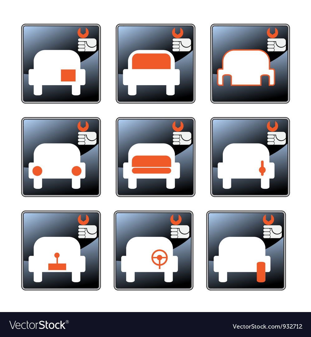 Car care centre symbolics vector | Price: 1 Credit (USD $1)