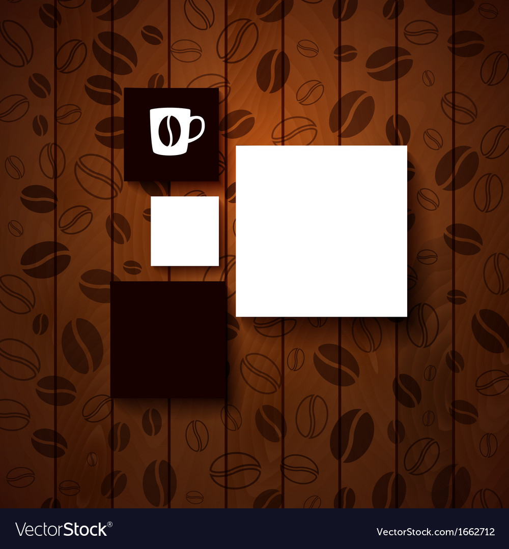 Design template for your coffee shop vector | Price: 1 Credit (USD $1)