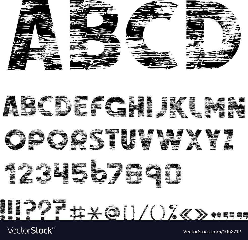 Grunge alphabet letters vector | Price: 1 Credit (USD $1)