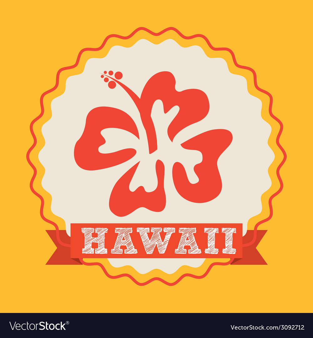 Hawaii flower design vector | Price: 1 Credit (USD $1)