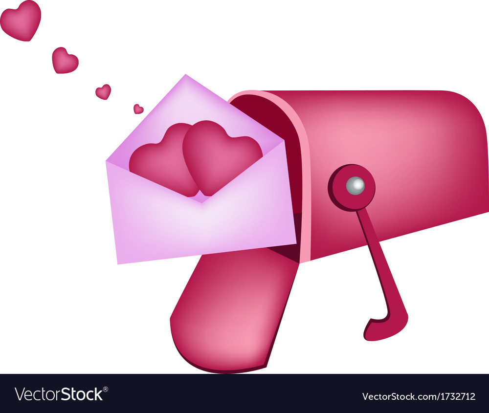 Love letters in mailbox vector   Price: 1 Credit (USD $1)