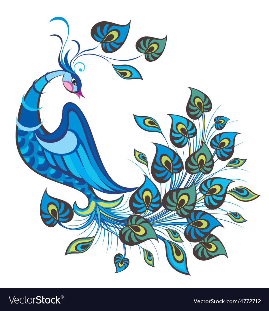 Peacock bird vector | Price: 1 Credit (USD $1)
