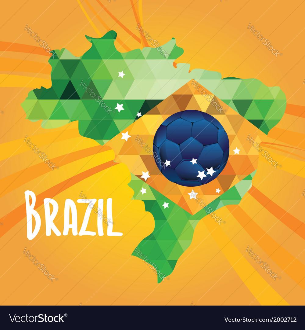 Poster soccer world game design concept brazil vector | Price: 1 Credit (USD $1)