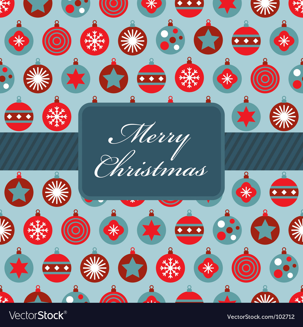 Red and blue christmas wrapping vector | Price: 1 Credit (USD $1)