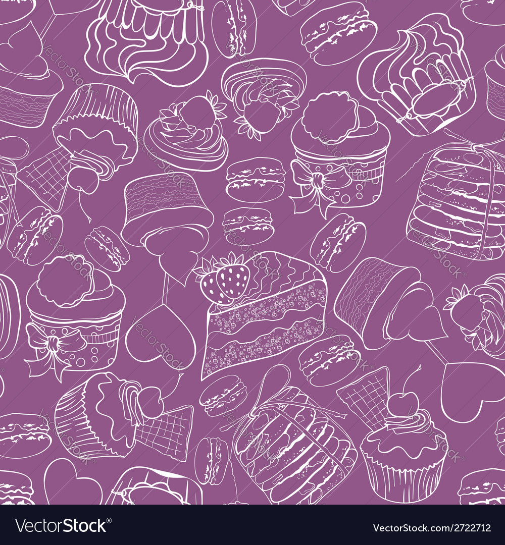 Seamless cupcak background vector | Price: 1 Credit (USD $1)