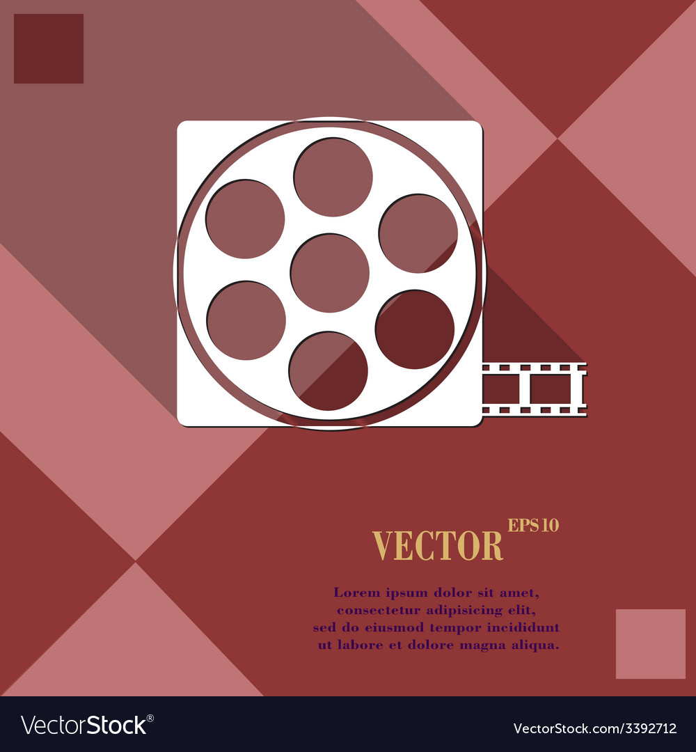 Video icon symbol flat modern web design with long vector   Price: 1 Credit (USD $1)