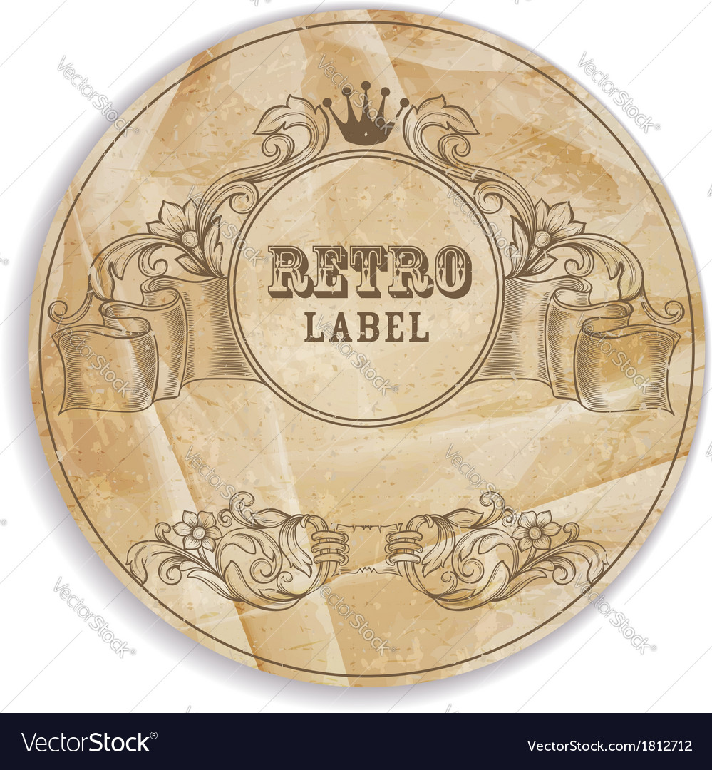 Vintage label with design elements vector | Price: 1 Credit (USD $1)