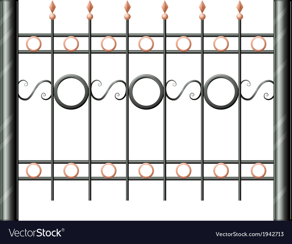 A steel fence vector | Price: 1 Credit (USD $1)