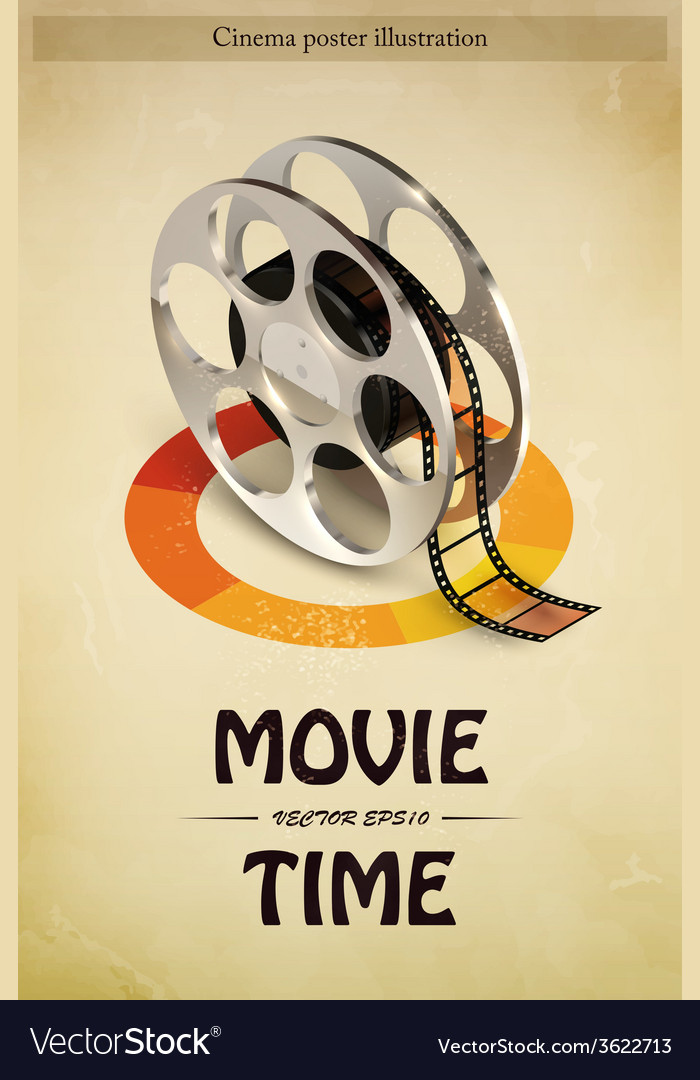 Cinema poster vector | Price: 1 Credit (USD $1)