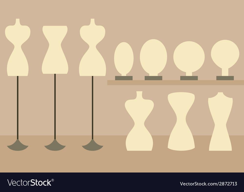 Fashion female mannequins set vector   Price: 1 Credit (USD $1)