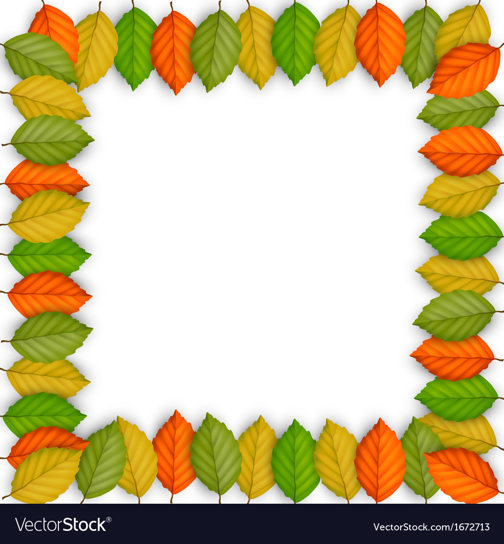 Frame of colored leaves vector | Price: 1 Credit (USD $1)