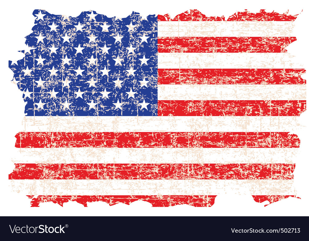 Grunge american flag vector | Price: 1 Credit (USD $1)