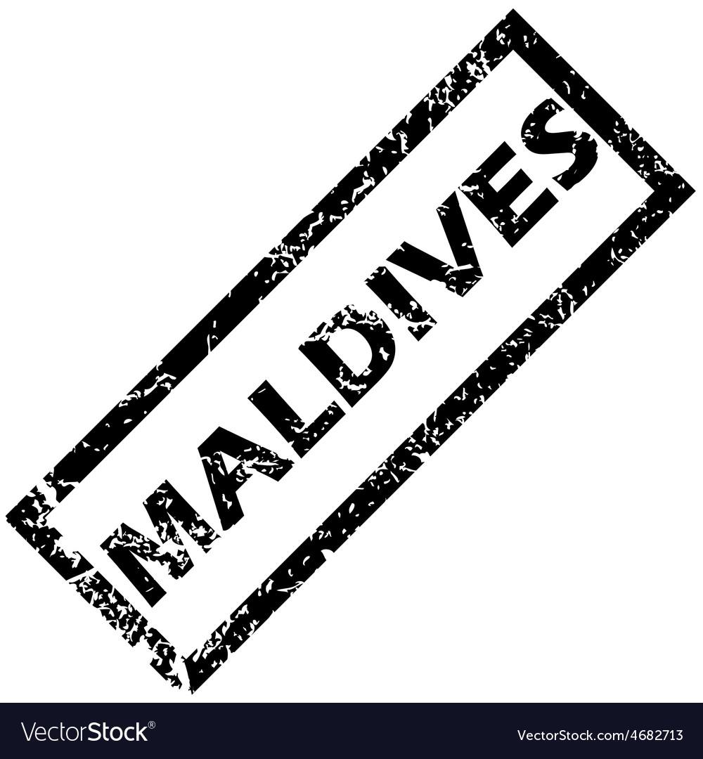 Maldives rubber stamp vector | Price: 1 Credit (USD $1)