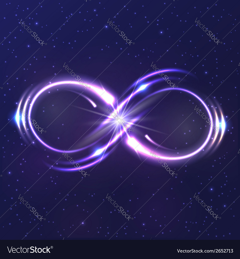 Neon light infinity symbol vector | Price: 1 Credit (USD $1)