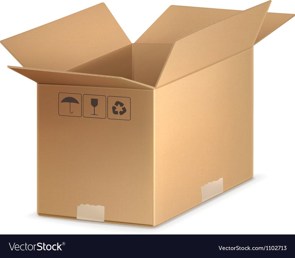 Open carton box vector | Price: 1 Credit (USD $1)