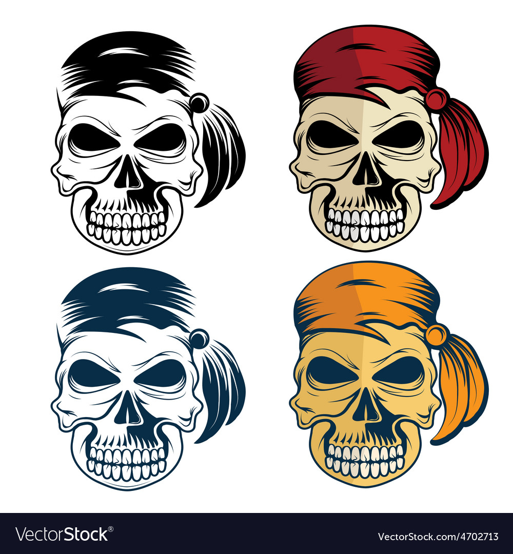 Pirates skull set vector | Price: 1 Credit (USD $1)