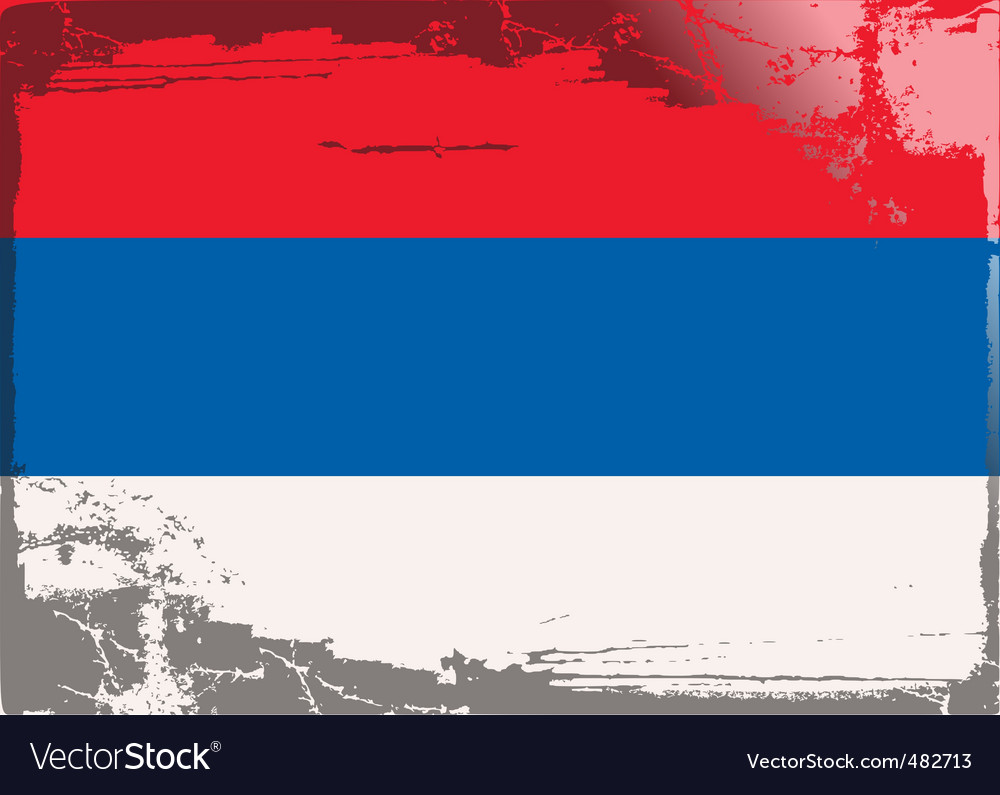 Serbia national flag vector | Price: 1 Credit (USD $1)