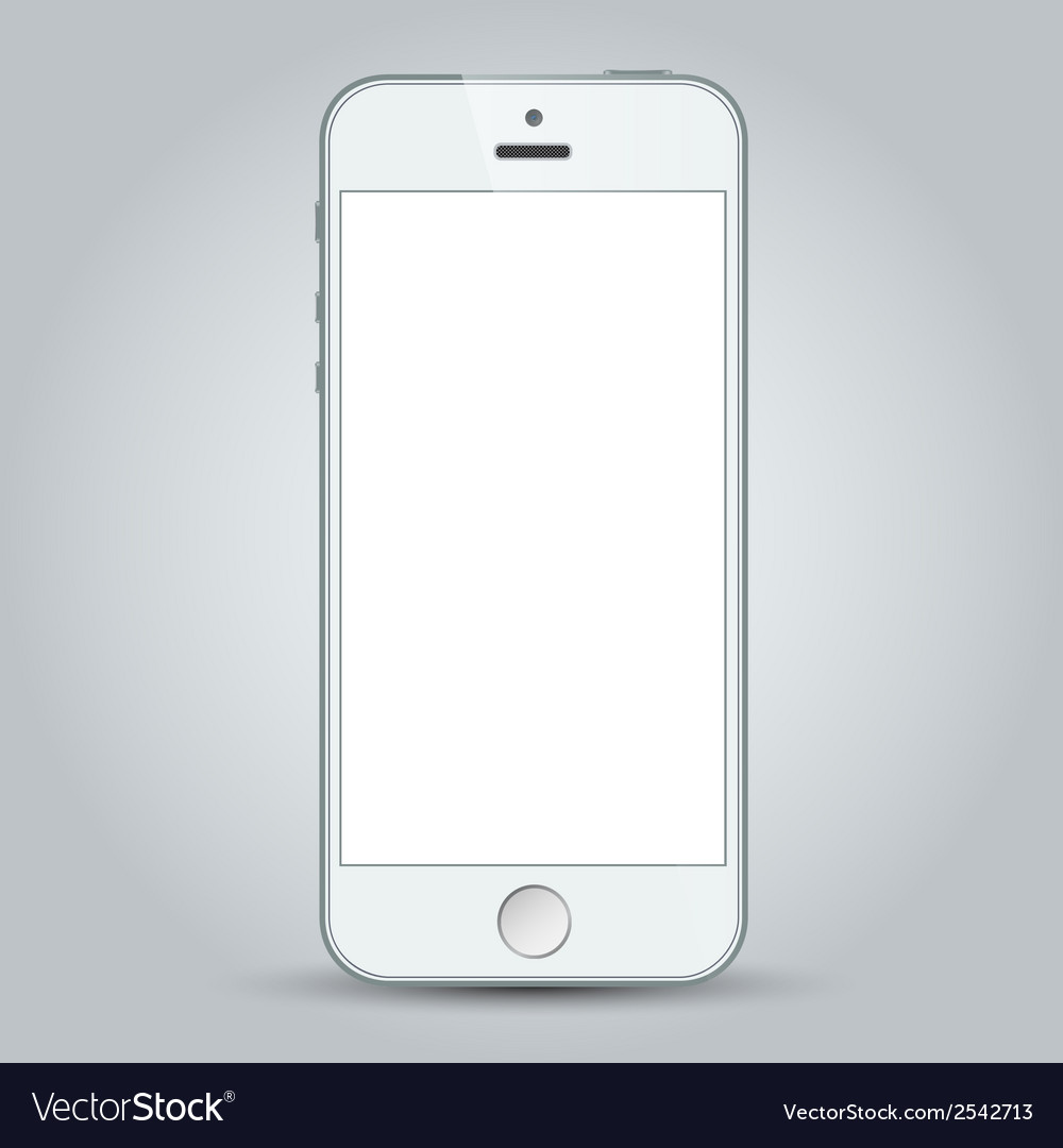 White mobile apple iphone 5s and iphone 6 plus vector | Price: 1 Credit (USD $1)