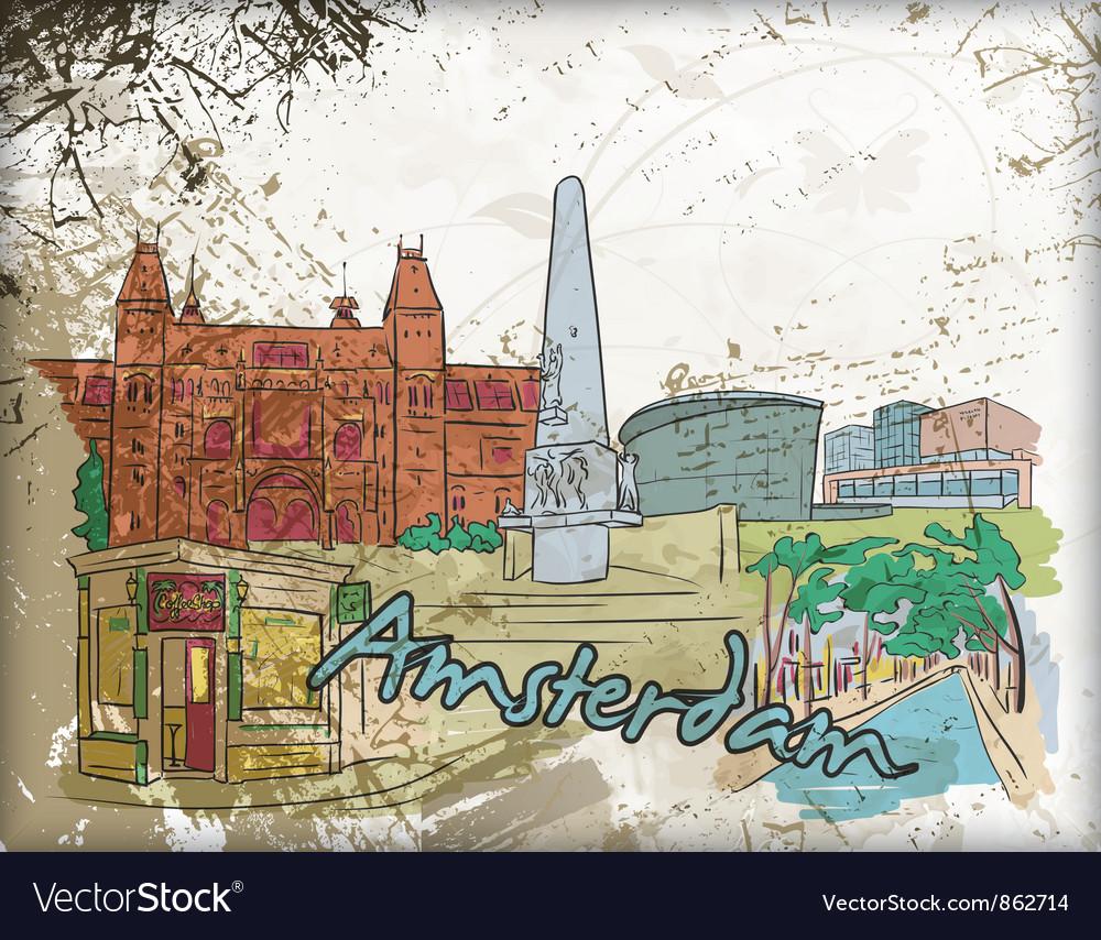 Amsterdam doodles vector | Price: 3 Credit (USD $3)