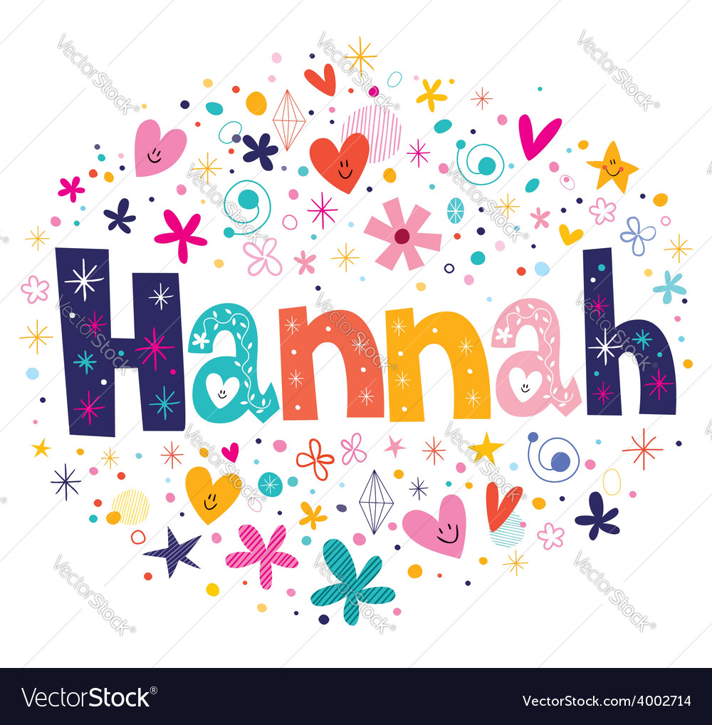 Hannah name design vector | Price: 1 Credit (USD $1)