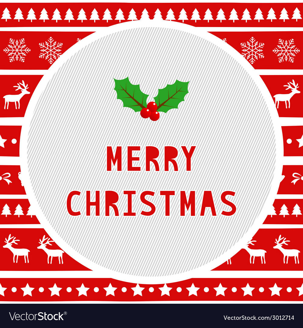 Merry christmas greeting card20 vector | Price: 1 Credit (USD $1)