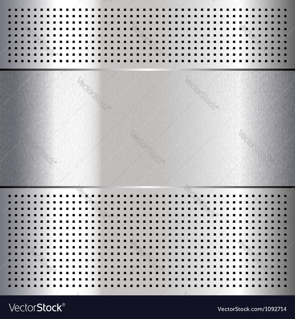Metallic perforated chromium steel sheet 10eps vector | Price: 1 Credit (USD $1)