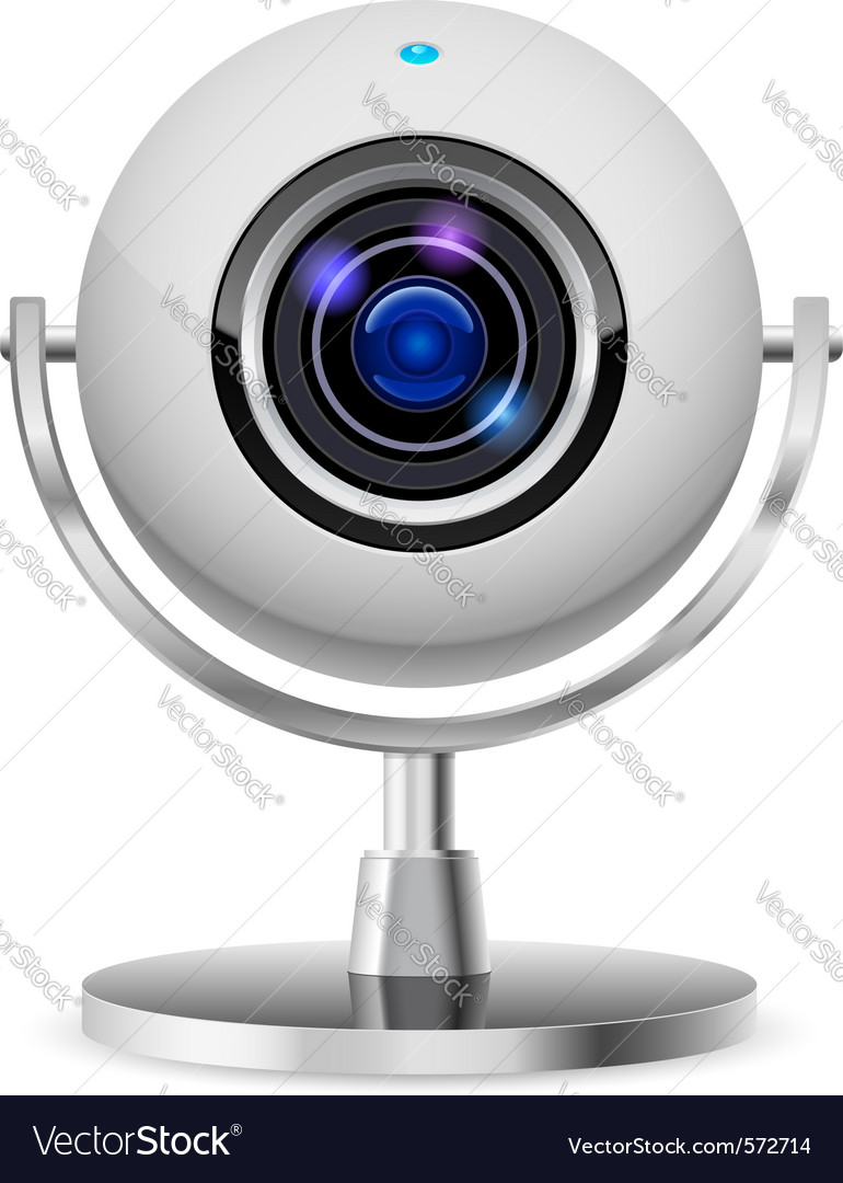 Realistic computer web cam vector | Price: 1 Credit (USD $1)