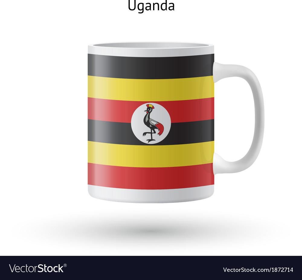 Uganda flag souvenir mug on white background vector | Price: 1 Credit (USD $1)